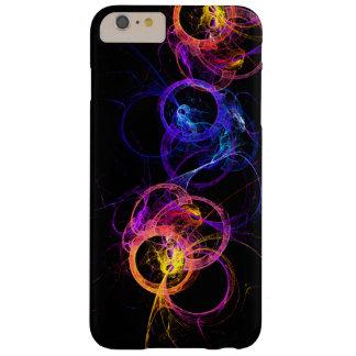 Anillos abstractos coloridos del humo que funda barely there iPhone 6 plus