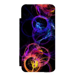 Anillos abstractos coloridos del humo que funda billetera para iPhone 5 watson