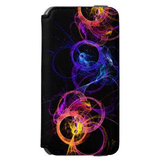 Anillos abstractos coloridos del humo que funda billetera para iPhone 6 watson