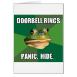 Anillos asquerosos del timbre de la rana del tarjeta de felicitación