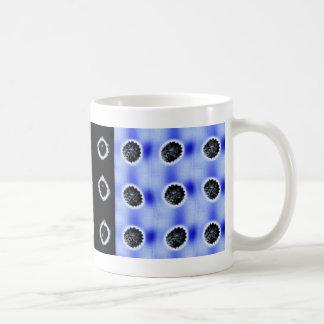 anillos, botones, neonbuttonscobaltblue tazas de café