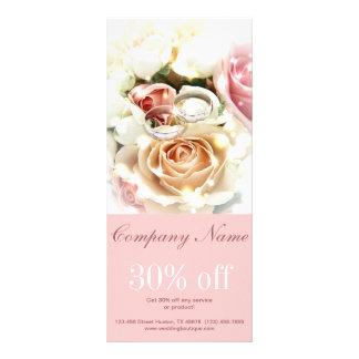 """anillos color de rosa de los ramos que casan negoc folleto publicitario 4"""" x 9"""""""