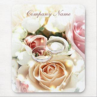 anillos color de rosa de los ramos que casan negoc tapete de raton
