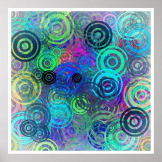 Anillos coloridos abstractos poster
