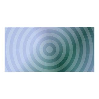 Anillos concéntricos del trullo tarjeta fotográfica personalizada