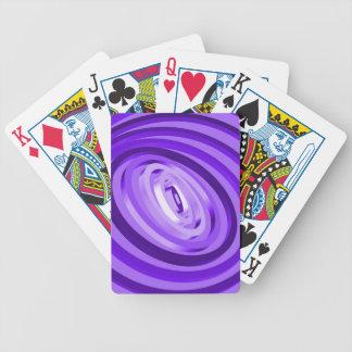 Anillos concéntricos púrpuras barajas