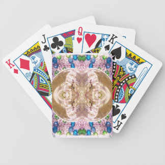 Anillos de bodas a juego de cristal doblados baraja cartas de poker
