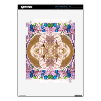 Anillos de bodas a juego de cristal doblados calcomanía para iPad 2