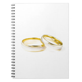 Anillos de bodas elegantes, pulidos, y con clase libreta espiral