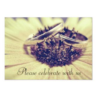 Anillos de bodas invitación personalizada