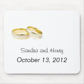 anillos de bodas alfombrilla de ratón