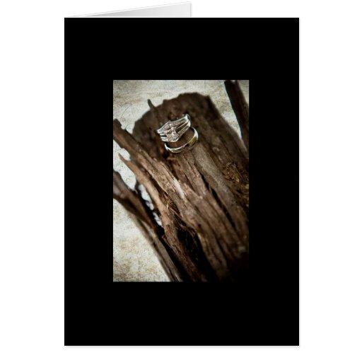 anillos de bodas tarjetón