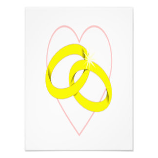 Anillos de bodas y corazón entrelazados arte fotografico