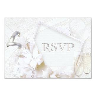 Anillos de bodas y vidrios RSVP de Champán Invitación 8,9 X 12,7 Cm