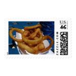 Anillos de cebolla fritos sello