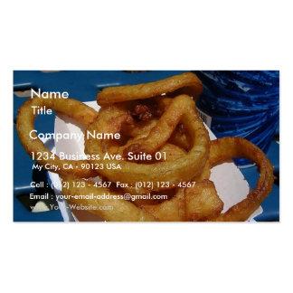 Anillos de cebolla fritos plantilla de tarjeta personal