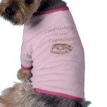 Anillos de compromiso del oro de la enhorabuena camisa de perrito