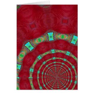 Anillos de Digitaces del verde rojo del color Tarjeta De Felicitación
