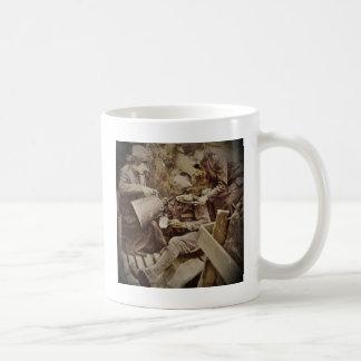 Anillos de espuma del café del servicio de los taza básica blanca