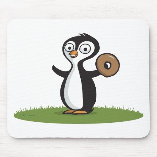 Anillos de espuma del pingüino tapete de raton
