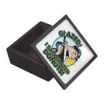 Anillos de espuma esmaltados policía caja de joyas de calidad