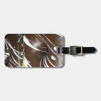 Anillos de espuma helados chocolate etiqueta de maleta