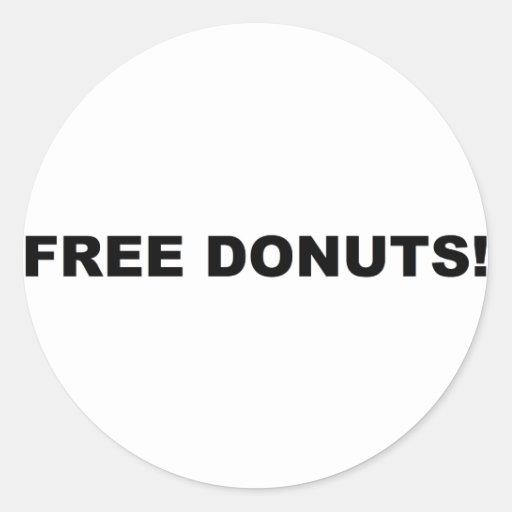 ¡Anillos de espuma libres! Etiquetas Redondas