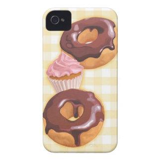 Anillos de espuma y magdalena del chocolate Case-Mate iPhone 4 cárcasas