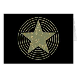 Anillos de la estrella felicitación