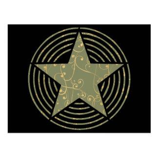 Anillos de la estrella tarjetas postales