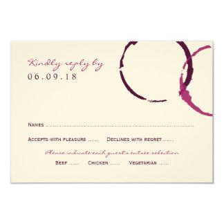 """Anillos de la mancha del vino de la tarjeta de invitación 3.5"""" x 5"""""""