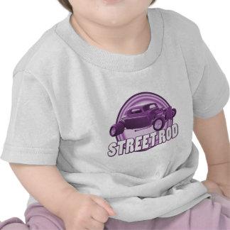 anillos de la púrpura de la barra de la calle camiseta