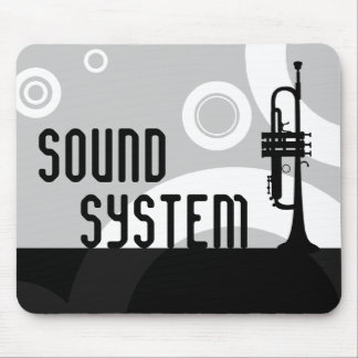 anillos de la trompeta del sistema de sonido tapete de ratón