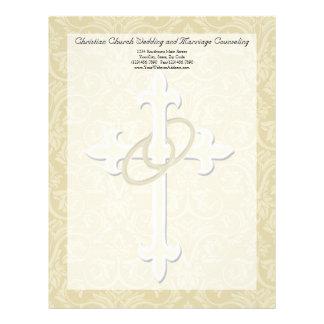 Anillos de oro con la cruz, amor cristiano elegant membretes personalizados