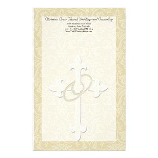 Anillos de oro con la cruz, amor cristiano elegant papeleria de diseño