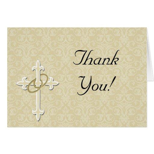 Anillos de oro con la cruz, amor cristiano elegant tarjetas