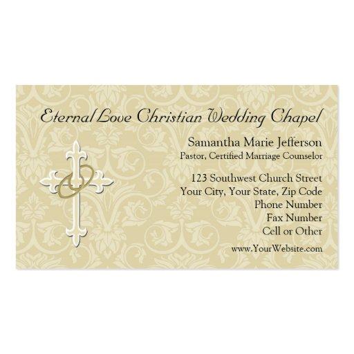 Anillos de oro con la cruz, amor cristiano elegant plantilla de tarjeta de visita
