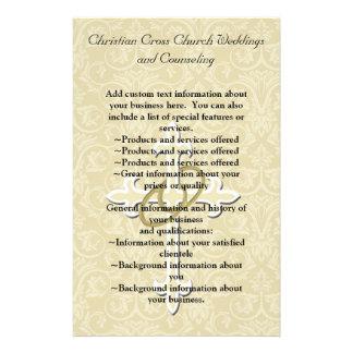 """Anillos de oro con la cruz, amor cristiano folleto 5.5"""" x 8.5"""""""