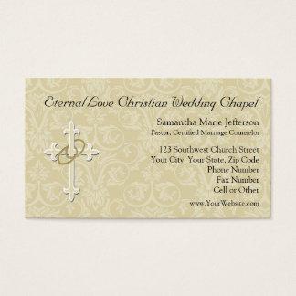 Anillos de oro con la cruz, amor cristiano tarjetas de visita