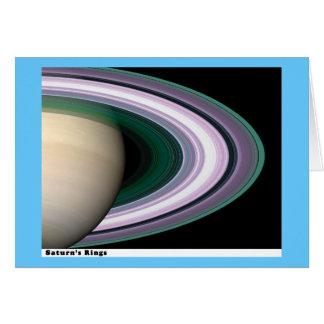 Anillos de Saturns Tarjeta De Felicitación