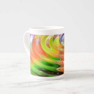 Anillos del agua del arco iris taza de porcelana