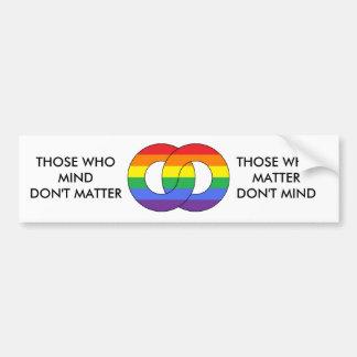 Anillos del arco iris - pegatina para el parachoqu pegatina para auto