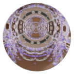 Anillos del arte abstracto de los sauces púrpuras platos para fiestas