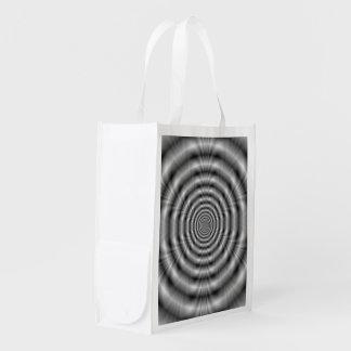 Anillos del bolso de ultramarinos gris bolsas de la compra