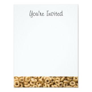 """Anillos del cereal de desayuno invitación 4.25"""" x 5.5"""""""