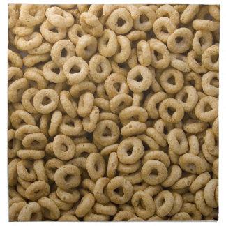 Anillos del cereal de desayuno servilletas