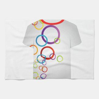 Anillos del Plantilla-fractal de la camiseta Toallas
