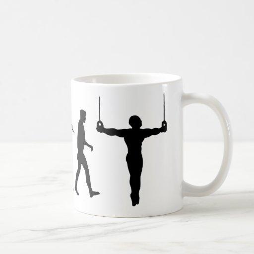 Anillos gimnásticos del gimnasta taza