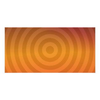 Anillos metálicos anaranjados tarjetas fotograficas personalizadas