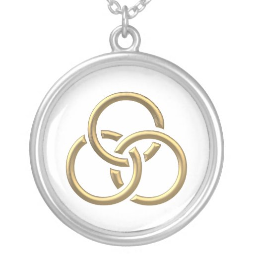"""Anillos """"tridimensionales"""" de oro de la trinidad grimpola personalizada"""